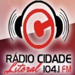 Logo da emissora Rádio Cidade Litoral 104.1 FM