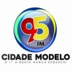 Logo da emissora Rádio Cidade Modelo 95.3 FM