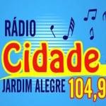 Logo da emissora Rádio Cidade Jardim Alegre 104.9 FM