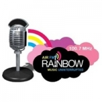 Logo da emissora FM Rainbow Lucknow 100.7 FM