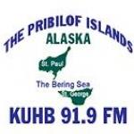 Logo da emissora KUHB 91.9 FM