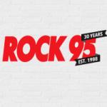 Logo da emissora Rock 95 CFJB FM 95.7
