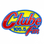 Logo da emissora Rádio Clube 105.5 FM