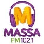 Logo da emissora Rádio Massa 102.1 FM