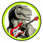 Logo da emissora Tiranossauros Rock