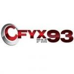 Logo da emissora Radio CFYX 93.3 FM