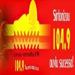 Logo da emissora Rádio Coroa Vermelha 104.9 FM