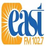 Logo da emissora East FM CJRK 102.7 FM