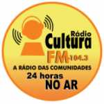 Logo da emissora Rádio Cultura 104.3 FM