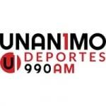 Logo da emissora Radio WMYM 990 AM Unanimo Deportes