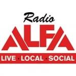 Logo da emissora Alfa 93.0 FM