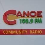Logo da emissora Canoe CKHA 100.9  FM