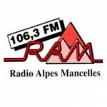 Logo da emissora Radio Alpes Mancelles 106.3 FM