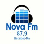 Logo da emissora Rádio Nova FM Bacabal