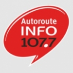 Logo da emissora Autoroute INFO 107.7 FM