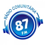 Logo da emissora Rádio Comunitária 87 FM