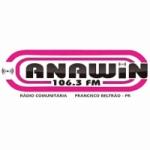 Logo da emissora Rádio Comunitária Anawin 106.3 FM