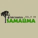 Logo da emissora Rádio Comunitária Samaúma 104.9 FM