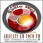 Logo da emissora Rádio Aracati Em Foco FM