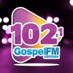 Logo da emissora Rádio Gospel 102.1 FM