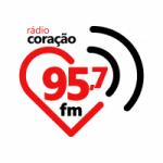 Logo da emissora Rádio Coração 95.7 FM
