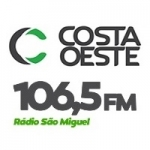Logo da emissora Rádio Costa Oeste 106.5 FM