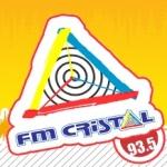 Logo da emissora Rádio Cristal 93.5 FM
