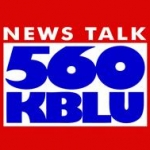 Logo da emissora KBLU 560 AM
