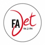 Logo da emissora Fajet 94.2 FM