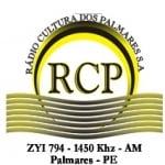 Logo da emissora Rádio Cultura dos Palmares 1450 AM