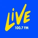 Logo da emissora Rádio Live 100.7 FM
