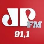 Logo da emissora Rádio Jovem Pan 91.1 FM