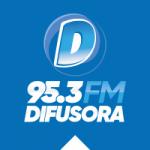 Logo da emissora Rádio Difusora 95.3 FM