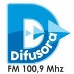 Logo da emissora Rádio Difusora 100.9 FM