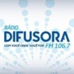 Logo da emissora Rádio Difusora 106.7 FM