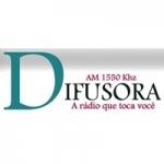 Logo da emissora Rádio Difusora 1550 AM