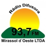 Logo da emissora Rádio Difusora 1010 AM