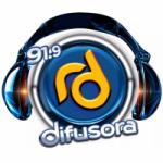 Logo da emissora Rádio Difusora 91.9 FM