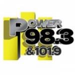 Logo da emissora KKFR 98.3 FM Power