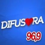 Logo da emissora Rádio Difusora 96.9 FM