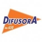 Logo da emissora Rádio Difusora 650 AM