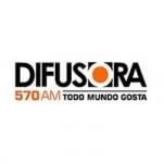 Logo da emissora Rádio Difusora 570 AM