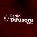 Logo da emissora Rádio Difusora 106.3 FM