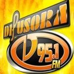 Logo da emissora Rádio Difusora 95.1 FM