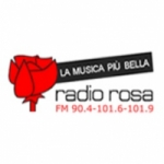 Logo da emissora Rosa 90.4 FM