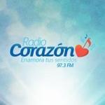 Logo da emissora Radio Corazón 97.3 FM