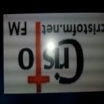 Logo da emissora Rádio Cristo FM
