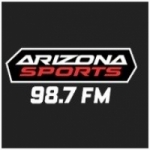 Logo da emissora Radio KMVP 98.7 FM Arizona Sports