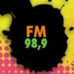 Logo da emissora Rádio Difusora 98.9 FM