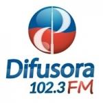Logo da emissora Rádio Difusora Platinense 102.3 FM